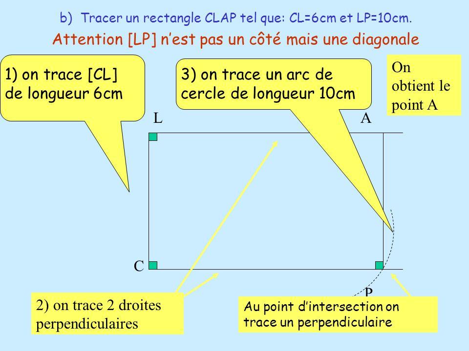 Attention [LP] n'est pas un côté mais une diagonale